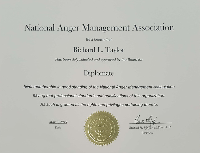 National Anger Management Association Diplomate